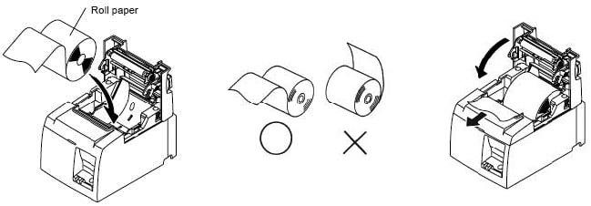 Cách thay giấy in mã vạch