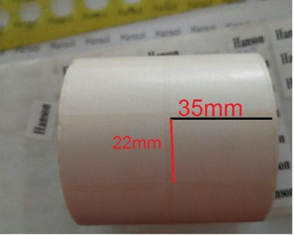 Kích thước giấy in mã vạch 2 tem