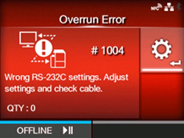 Lỗi máy in mã vạch sato 1004