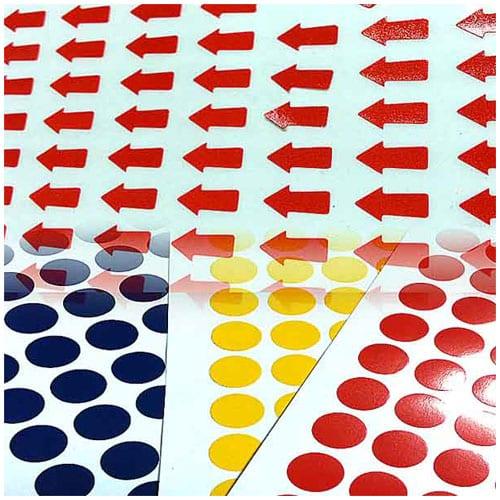 Các mẫu giấy decal in tem nhãn dán lỗi sản phẩm
